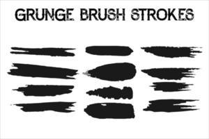 Paint grunge backgrounds, brushstrokes vector
