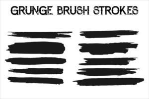 Black vector brush strokes collection