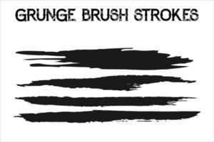 Vector set of grunge brush strokes. Oil brushes. Vector
