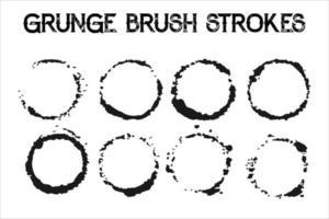 Grunge Circle Texture vector