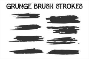 Grunge Brush Stroke with Pen Scribble Brushes vector