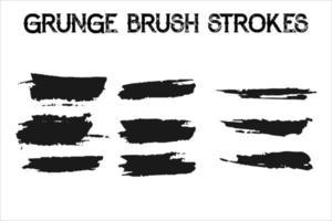 Vector black paint, ink brush stroke, brush, line or texture. Dirty artistic design element