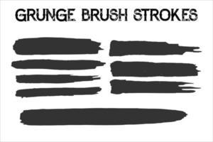 Hand drawn paint grunge brush strokes vector