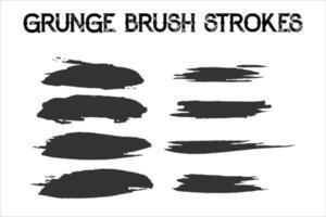 Set of strokes vector