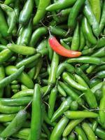 pimientos picantes frescos de origen natural para preparar comida mexicana foto