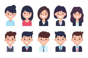 The staff are dressed politely. Business men and women. job application concept vector