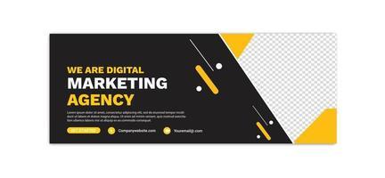 Digital Marketing template banner vector