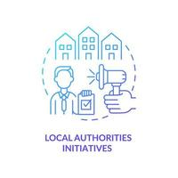 Local authorities initiatives concept icon. Population interests representation abstract idea thin line illustration. Community wellbeing improvement. Vector isolated outline color drawing