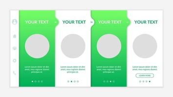 Environmental entrepreneurship onboarding vector template. Responsive mobile website with icons. Web page walkthrough 4 step screens. Ecological issues color concept with copy space