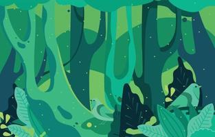 Green Forest Background Concept vector