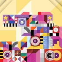 Modern Colorful Abstract Shapes Concept vector