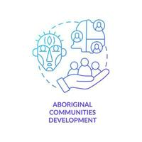 Aboriginal communities development concept icon. Community development abstract idea thin line illustration. Nation-to-nation partnership. High unemployment. Vector isolated outline color drawing