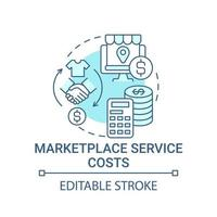 Marketplace service costs concept icon. Choice parameter abstract idea thin line illustration. Products and fees price. Operational costs. Vector isolated outline color drawing. Editable stroke