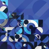 Abstract Basic Shapes In Blue Nuance Color Background vector