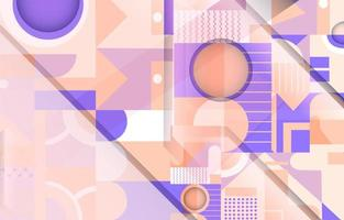 Geometric Abstract Pastel Purple Nuance Background vector