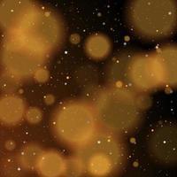 Gold bokeh shiny glittering golden and silver stars vector