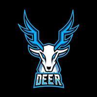 White deer mascot gaming logo design for team, squad game vector