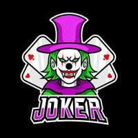 Clown joker scary mask mascot sport esport logo template vector