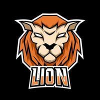 Lion mascot gaming logo design vector template