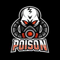 Toxic poison mask sport esport logo template design vector