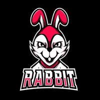 White rabbit mascot sport esport logo template vector