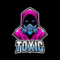 Toxic mask sport esport logo template design vector