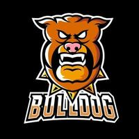 Bulldog sport or esport gaming mascot logo template, for your team vector