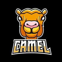 Camel sport or esport gaming mascot logo template, for your team vector