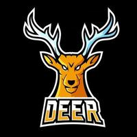 Deer sport or esport gaming mascot logo template, for your team vector