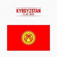 National Flag of Kyrgyzstan vector