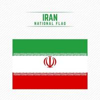 National Flag of Iran vector