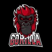 Gorilla sport or esport gaming mascot logo template, for your team vector