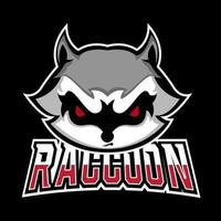 Racoon sport or esport gaming mascot logo template, for your team vector
