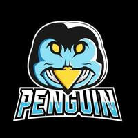 Penguin sport or esport gaming mascot logo template, for your team vector