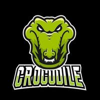 Crocodile sport or esport gaming mascot logo template, for your team vector
