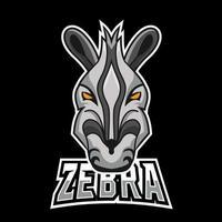 Zebra sport or esport gaming mascot logo template, for your team vector