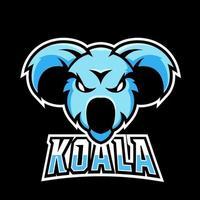 Koala sport or esport gaming mascot logo template, for your team vector