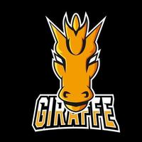 Giraffe sport or esport gaming mascot logo template, for your team vector