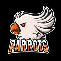 Parrots sport or esport gaming mascot logo template, for your team vector