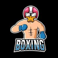 Boxing sport or esport gaming mascot logo template, for your team vector