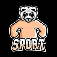 Sumo sport or esport gaming mascot logo template, for your team vector