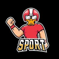 Duck sport or esport gaming mascot logo template, for your team vector
