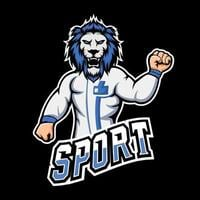 Lion sport or esport gaming mascot logo template, for your team vector