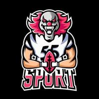 Football sport or esport gaming mascot logo template, for your team vector