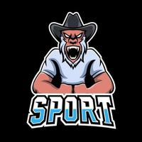 Ape sport or esport gaming mascot logo template, for your team vector