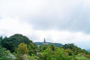 Landmark pagoda in doi Inthanon national park at Chiang Mai Thailand photo