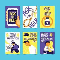 Suicide Prevention Cards vector