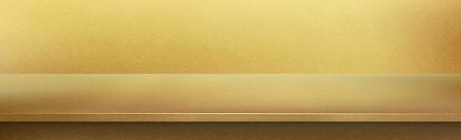 Metal gold table top, yellow background - Vector