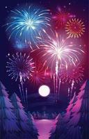 Fireworks Festival at Night vector