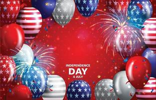 Independence Day 4th July Celebration Background vector